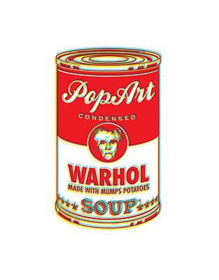 Digital Art - Warhol Soup by Gary Grayson
