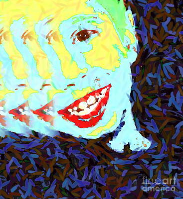 Photograph - Warholesque Joker Kid - Paintograph Abstract by Christine S Zipps