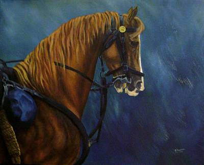Painting - Warhorse-us Cavalry by Joann Renner