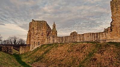 Architecture Digital Art - Warkworth Castle by Maye Loeser
