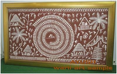 Tarpa Dance Painting - Warli Art by AYUSH Adivasi Yuva Shakti