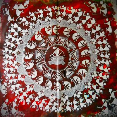 Warli Painting - Warli Festival by Nitya Jain