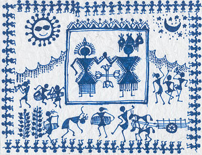 Warli Wedding Print by Subhash Limaye