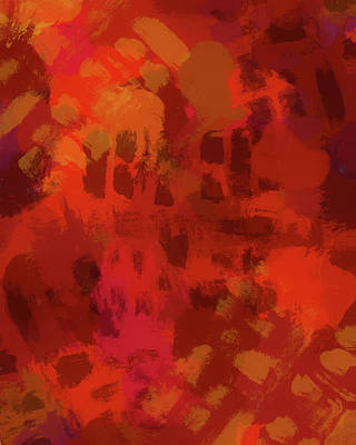 Cycles Painting - Warm Abstract 1 by Dan Sproul