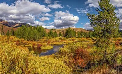 Photograph - Warm Autumn Landscape by Leland D Howard