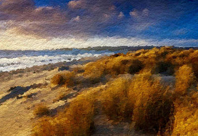 Sea Grass Digital Art - Warm Beach Day Abstract by Anthony Fishburne