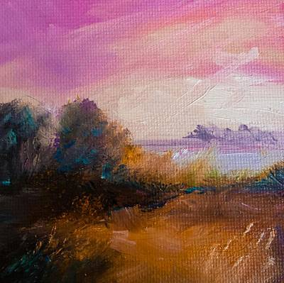 Painting - Warm Colorful Landscape by Michele Carter