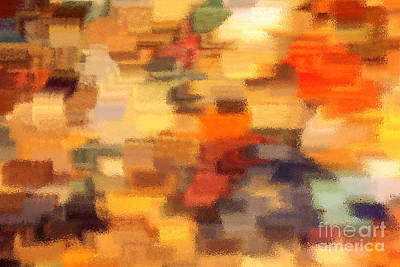 Warm Colors Under Glass - Abstract Art Art Print by Carol Groenen
