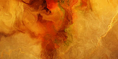 Art Print featuring the painting Warm Embrace - Abstract Art by Jaison Cianelli