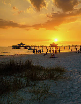 Photograph - Warm Evening At Fort Myers Beach by Mark Robert Rogers