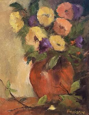 Painting - Warm Flowers  by Kathleen Harrington