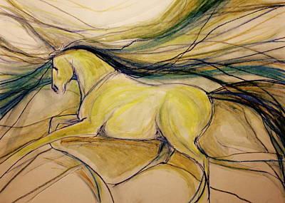 Sporthorse Mixed Media - Warm Friend by Jennifer Fosgate