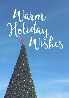 Warm Holiday Wishes- Art By Linda Woods Art Print