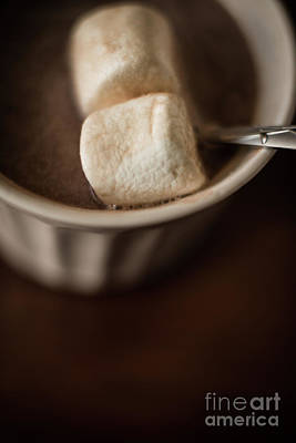 Marshmallow Photograph - Warm Hot Coco And Marshmallows by Taylor Martinsen