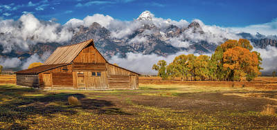Warm Morning Light In The Tetons Art Print
