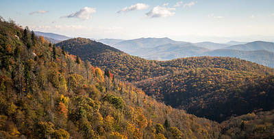 Smokey Mountains Digital Art - Warm Morning On The Parkway by Clay Townsend