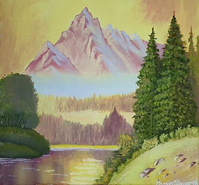 Painting - Warm Mountain by Cassy Allsworth