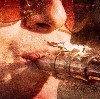 Saxophonist Photograph - Warm Natural Sound by Alexander Senin