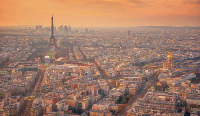 Photograph - Warm Paris Sunset by Darren White