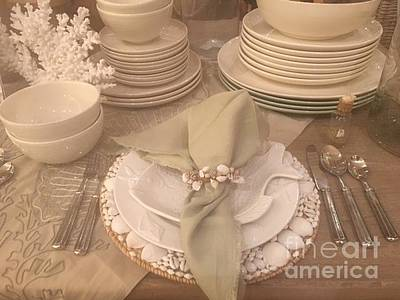 Photograph - Warm Place Setting by Jeannie Rhode