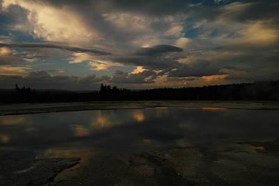 Animal Watercolors Juan Bosco - Warm pools at sunset by Jeff Swan