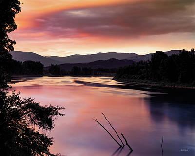Photograph - Warm Reflections Kootenai by Leland D Howard
