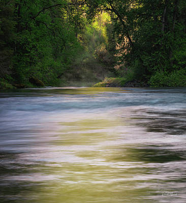 Photograph - Warm River Light by Leland D Howard