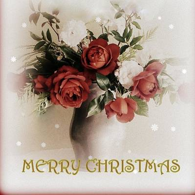 Photograph - Warm Rose Christmas  by Diana Besser