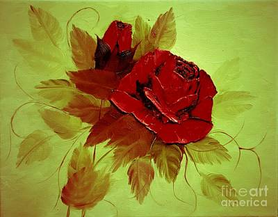 Rose Painting - Warm Rose by Gerri Anderson