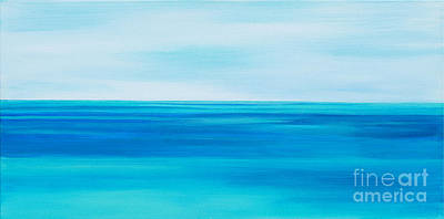 Painting - Warm Sea Shallows  by Expressionistart studio Priscilla Batzell