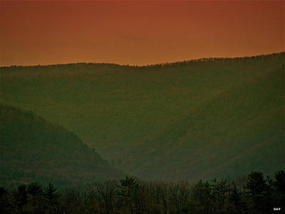 Simple Beauty In Colors Photograph - Warm Spring Mountains by Debra     Vatalaro