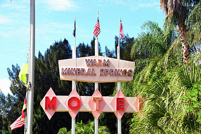 Photograph - Warm Springs Motel Sign by David Lee Thompson