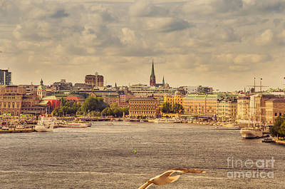 Warm Stockholm View Art Print
