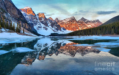 Photograph - Warm Sunrise Light At Moraine by Adam Jewell