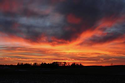 Warm Sunset Glow Art Print