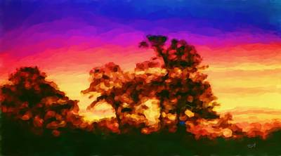 Digital Art - Warm Sunset by Tom Tunnicliff