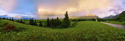 Storm Photograph - Warm The Soul Panorama by Chad Dutson