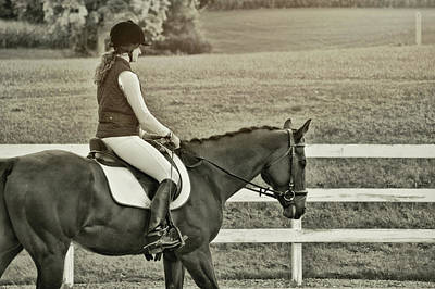 Rider Photograph - Warm Up by JAMART Photography