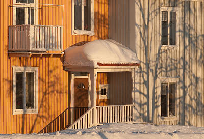 Kiruna Photograph - Warm Vinter Facade by Jonas Sundberg