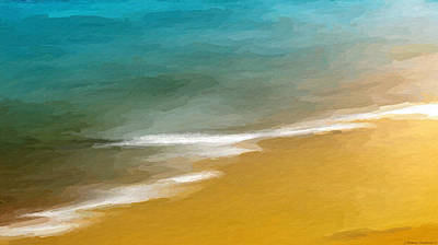 Mixed Media - Warm Water Hot Sand by Anthony Fishburne