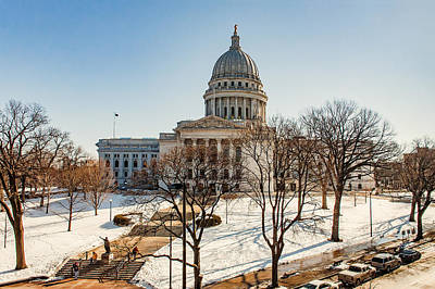Capitol Building Wall Art - Photograph - Warm Winter Capitol by Todd Klassy