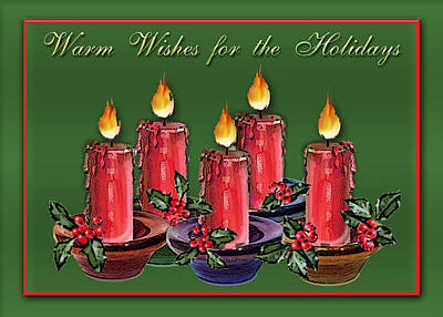 Xmas Digital Art - Warm Wishes by Arline Wagner