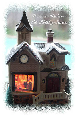 Digital Art - Warm Wishes Home Card by Ellen Barron O'Reilly