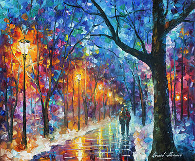 Painting - Warmed By Love by Leonid Afremov