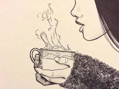 Girl Drawing - Warmth by Apryl Gaudet