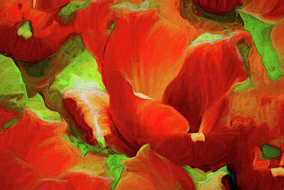Mixed Media - Warmth Of Sunlit Tulips  by Lynda Lehmann