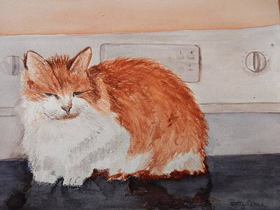 Painting - Warmth Of The Stove Top by Betty-Anne McDonald