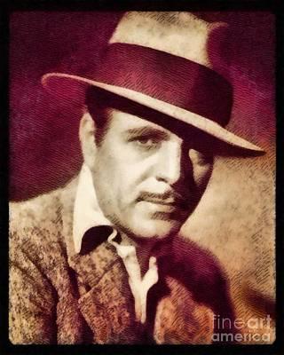 Warner Painting - Warner Baxter, Vintage Actor By John Springfield by John Springfield