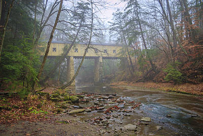 Photograph - Warner Hollow Rd Covered Bridge by Jack R Perry