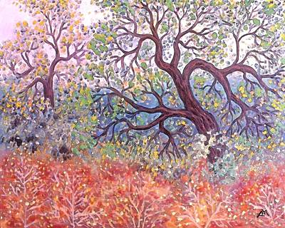 Fall Trees Painting - Warner Springs Three by Linda Mears